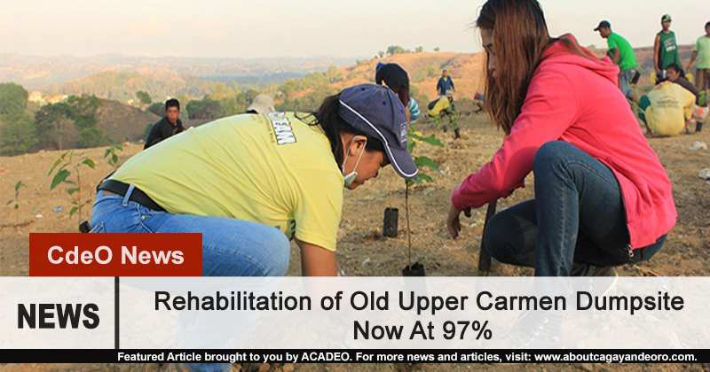 Rehabilitation of Upper Carmen Dump Site Now at 97%