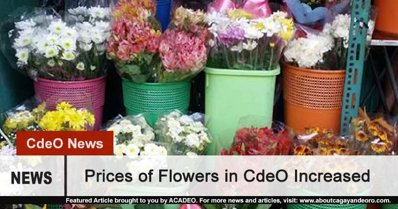 Prices of flowers in CdeO increased