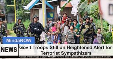 Government troops still on heightened alert for terrorist sympathizers