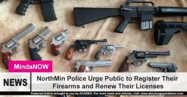 NorthMin Police Urge Public To Register Their Firearms