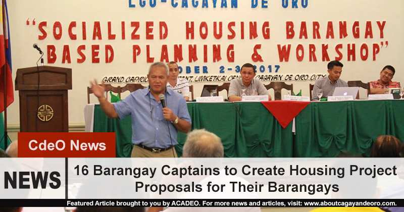 16 Barangay Captains to Create Housing Project Proposals for Their Barangays