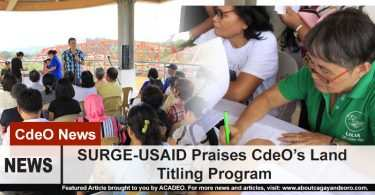 SURGE-USAID Praises CdeO's Land Titling Program
