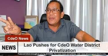 Lao pushes for water district privatization