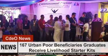 167 beneficiaries graduated from short term livelihood coursees