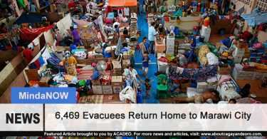 6,469 evacuees return to Marawi City