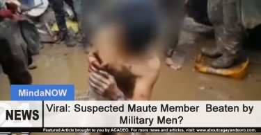 Viral: Suspected Maute Member Allegedly Beaten by Military Men?