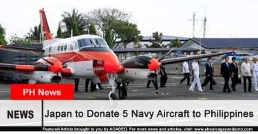 Japan to donate 5 military naval planes to the Philippines