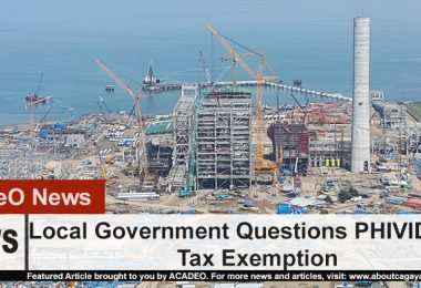 Phividec's Tax Exemption questioned