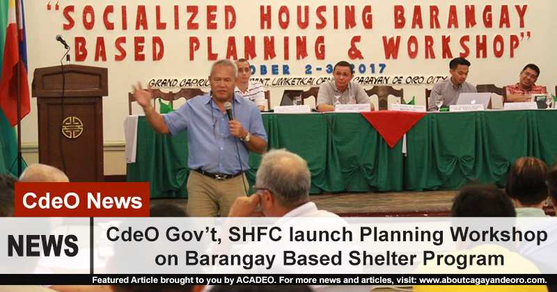 CdeO Gov't, SHFC launch Planning Workshop