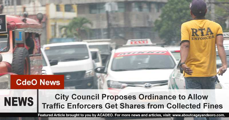 City Council Proposes Ordinance to Allow Traffic Enforcers Get Shares from Collected Fines