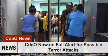 CdeO now on heightened alert for possible terrorist attacks