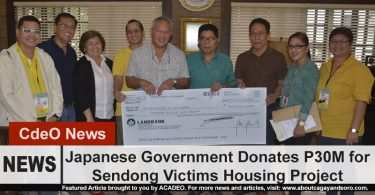 Japanese Government gives P30M for Sendong Victims