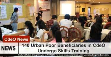 140 Urban Poor Beneficiaries Undergo Skills Training