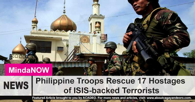 17 ISIS hostages rescued by Philippine Military