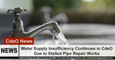 restoration of normal water supply extended due to stalled pipe water repair works