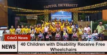 40 Children Receive Free Wheelchairs