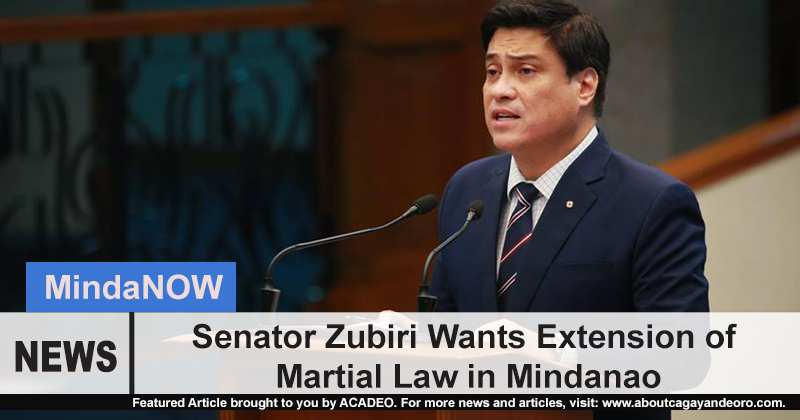 Senator Zubiri wants extension of Martial Law