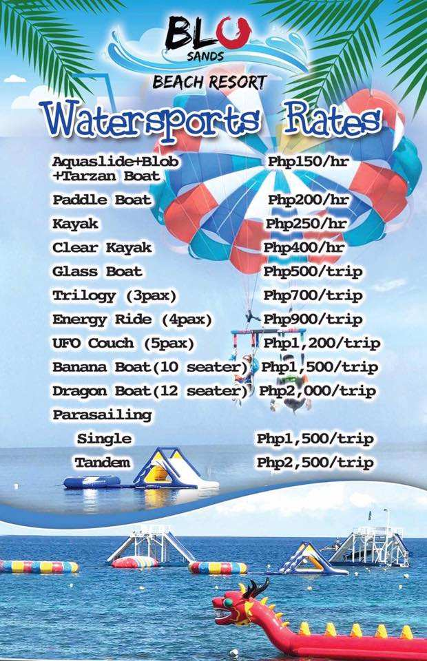 Blu Sands Initao Room Rates