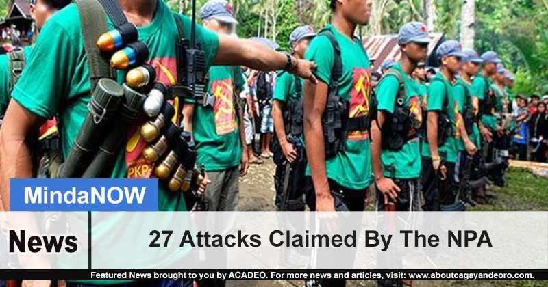 27 Attacks Claimed By The NPA