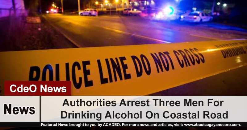 Authorities Arrest Three Men For Drinking Alcohol On Coastal Road