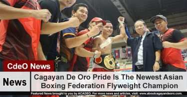 Cagayan De Oro Pride Is The Newest Asian Boxing Federation Flyweight Champion