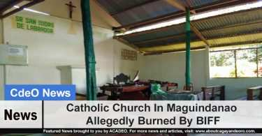 Catholic Church In Maguindanao Allegedly Burned By BIFF