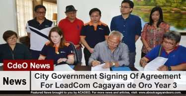 City Government Signing Of Agreement For LeadCom Cagayan de Oro Year 3