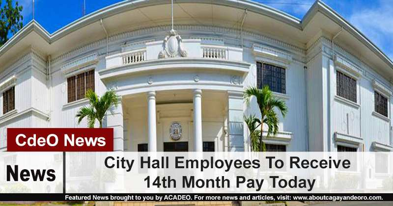 City Hall Employees To Receive 14th Month Pay Today