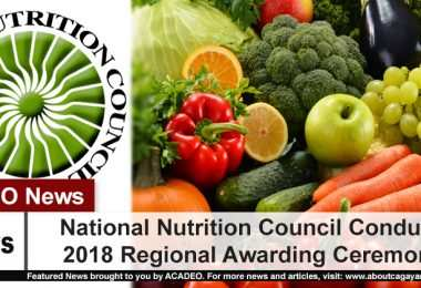 National Nutrition Council Conducts 2018 Regional Awarding Ceremony