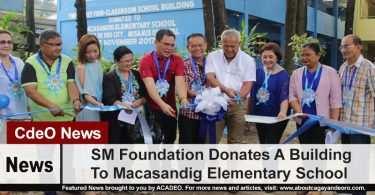 SM Foundation Donates A Building To Macasandig Elementary School