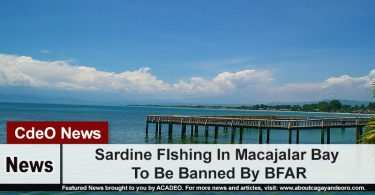 Sardine FIshing In Macajalar Bay To Be Banned By BFAR