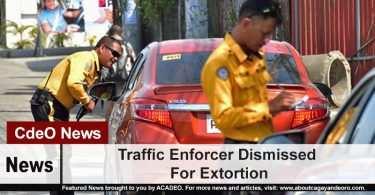 Traffic Enforcer Dismissed For Extortion