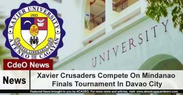 Xavier Crusaders Compete On Mindanao Finals Tournament In Davao City