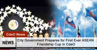 City Government Prepares for First Ever ASEAN Friendship Cup in CdeO