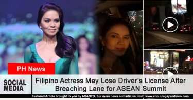 Filipino Actress May Lose Driver's License After Breaching ASEAN Summit Security