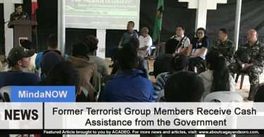Former Terrorist Group Members Receive Cash Assistance from Government