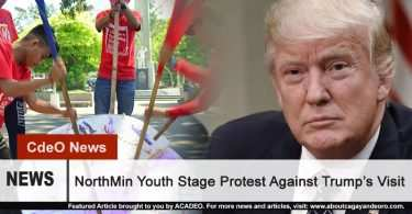 NorthMin Youth Stage Protest Against Trump's Visit