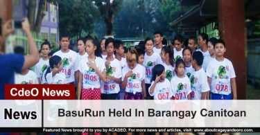 BasuRun Held In Barangay Canitoan