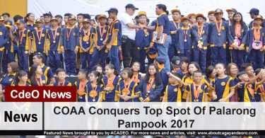 COAA Conquers Top Spot Of Palarong Pampook 2017