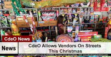 CdeO Allows Vendors On Streets This Christmas