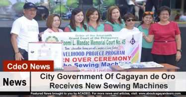 City Government Of Cagayan de Oro Receives New Sewing Machines