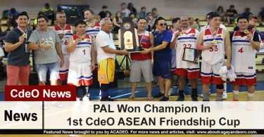 PAL Won Champion In 1st CdeO ASEAN Friendship Cup