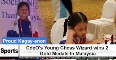 CdeO's Young Chess Wizard wins 2 Gold Medals In Malaysia