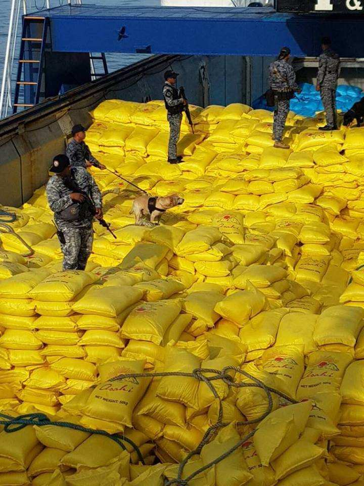 Philippine coast guard seizes p120m worth of smuggled rice for Bureau zamboanga