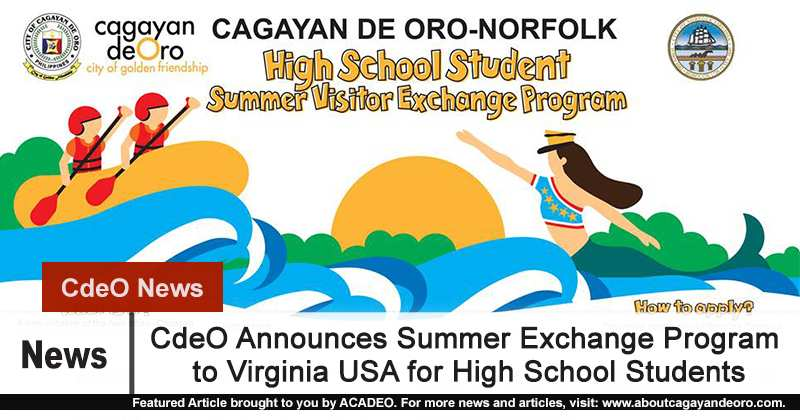 Cdeo Announces Summer Exchange Program To Usa For High School Students