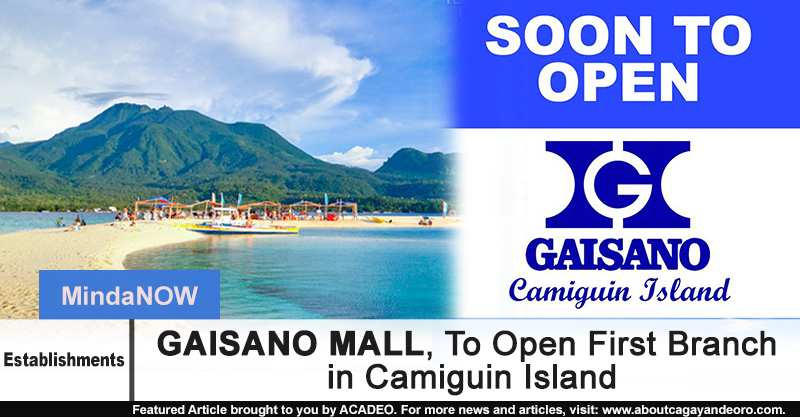 Gaisano Mall To Open First Branch In Camiguin Island