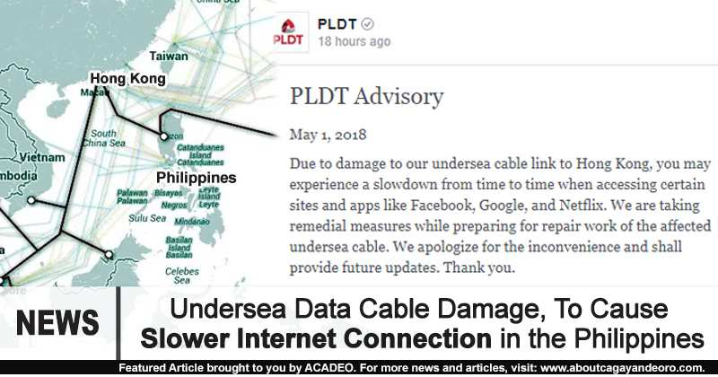 Undersea Data Cable Damage, To Cause Slower Internet Connection