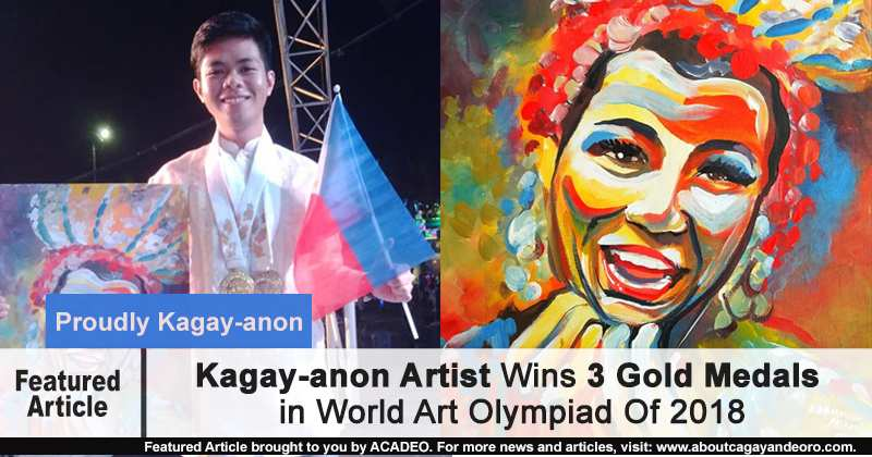 Kagay-anon Artist: Emmanuel Mulawan, Wins 3 Gold Medals in