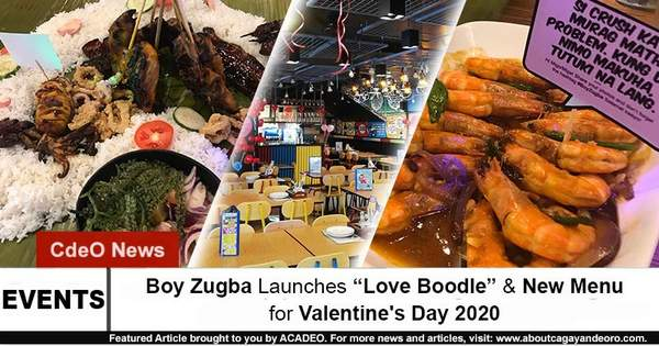 """Boy Zugba Launches """"Love Boodle"""" & New Menu for Valentine's Day 2020"""
