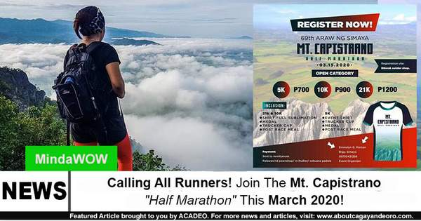 """Calling All Runners! Join The Mt. Capistrano """"Half Marathon"""" This March 2020!"""